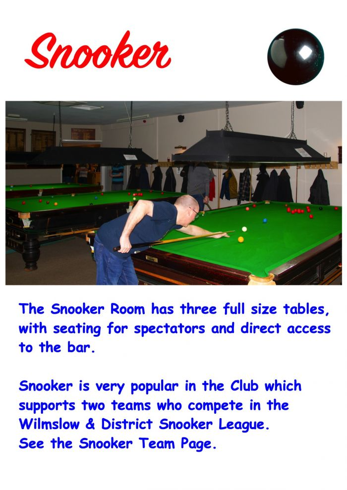 Details on our Snooker Room